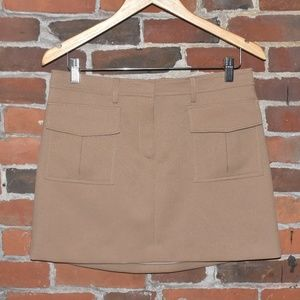 NWT THEORY Lupah Tan Mini Skirt Size 6 $255